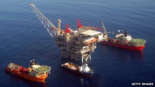Tamar natural gas platform, 2013