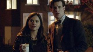 Jenna-Louise Coleman and Matt Smith in Doctor Who
