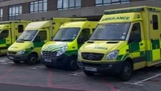 Ambulances at Queen Alexandra Hospital