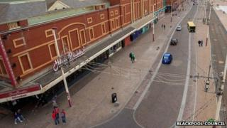 Section of Blackpool Promenade which could be changed