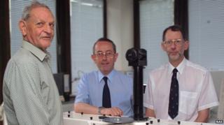 Joe Farman, Brian Gardiner and Jon Shanklin