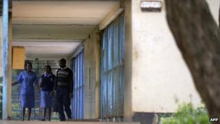 Medical students at the Mathari Mental Hospital in Kenya's capital, Nairobi, on 13 May 2013