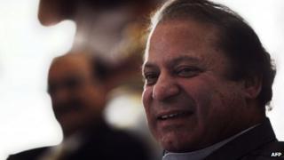 Nawaz Sharif at his farm house near Lahore (May 13 2013)