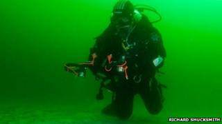 Diver in Orkney waters