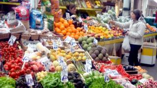 Market vegetable stall