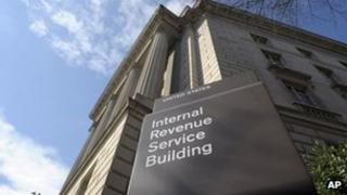 The exterior of the Internal Revenue Service building in Washington, 22 March 2013
