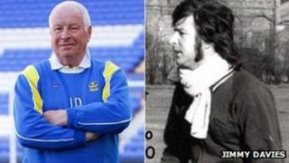 Jimmy Davies in 2013 and early 1970s