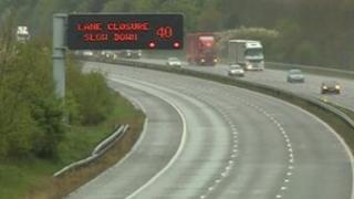 M1 lane closures