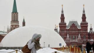 Dome covering Lenin mausoleum