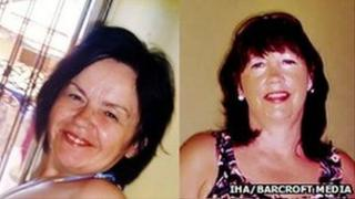Murder victims Cathy Dinsmore and Marion Graham