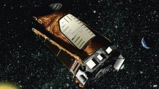 An artist's depiction of the Kepler space telescope, provided by Nasa