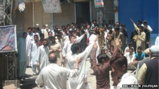 Protesters in Hajira