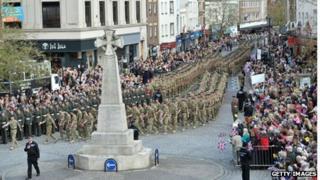40 Commando homecoming parade May 2013