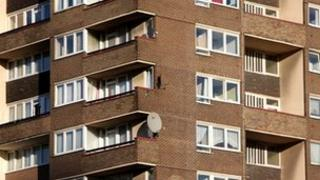 Council flats in south London