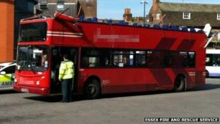 Bus with roof missing
