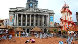 Beach in Old Market Square