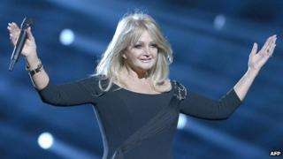Bonnie Tyler rehearsing 'Believe In Me' at Eurovision Song Contest, Malmo, Sweden, 2013