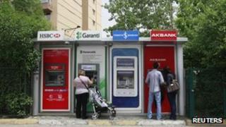 Turkish cash machines