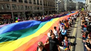 Gay Pride parade in London