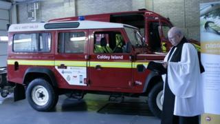 Caldey island's new vehicle