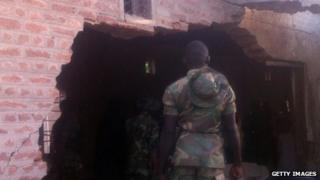 Nigerian soldier in Bama (file photo - 7 May)