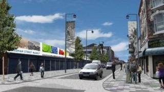 Artist's impression of Freeman Street plan