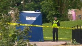 Murder scene, Upper Spon Street