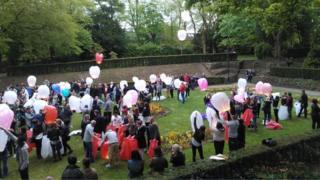 Vigil in Swindon's Town Gardens