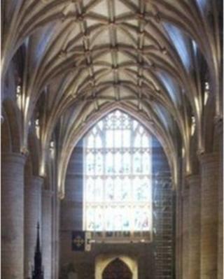Nave of Tewkesbury Abbey