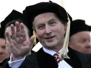 Mr Kenny was presented with an honorary Doctor of Laws degree