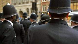 Police officers in uniform