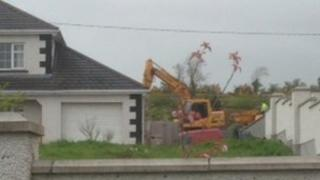 Excavation has now ended at the back of the house in County Cavan