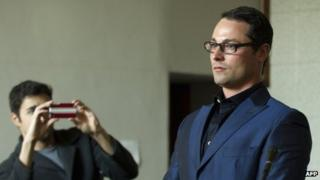 Carl Pistorius, brother of South African star sprinter Oscar Pistorius, appears in court on 21 May 2013 at the Vanderbijlpark Magistrate's Court in Johannesburg