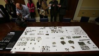 Almost 900 artefacts were recovered by police in England