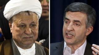 Akbar Hashemi Rafsanjani and Esfandiar Rahim Mashaei