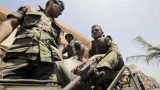 Lebanese solider in Tripoli, 21 May.
