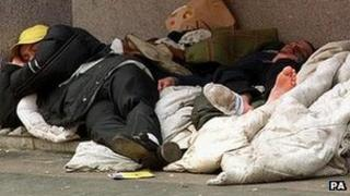 """Calls for help from the homeless have """"increased by 29%"""" since 2012"""