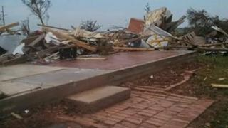 House after the tornado struck