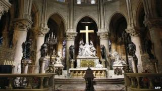 The altar of Notre-Dame cathedral