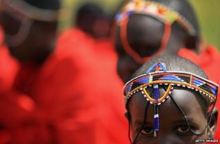 A young Maasai girl