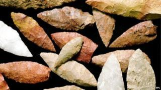 Stone tools from Blombos