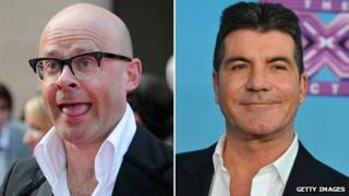 Harry Hill and Simon Cowell