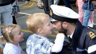 HMS Trenchant family reunited