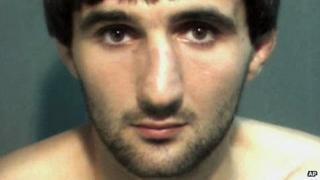 Police mug shot of Ibragim Todashev after his arrest on suspicion of assault on 4 May 2013