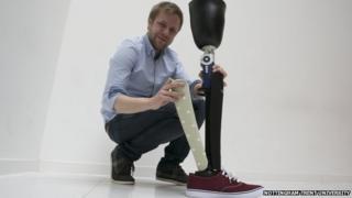Jonathan Bradshaw with his design prototype