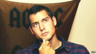 Police handout of US murder suspect named as Kevin Dahlgren