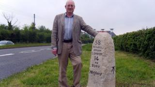 John Nunn with the Long Melford milestone