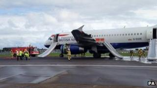 Plane attended to at Heathrow