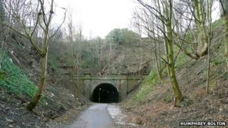 The newly opened tunnel