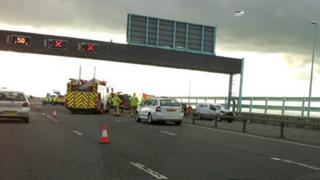 Emergency services at the crash scene